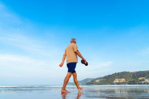 Back and leg pain when walking can often be helped a lot by simply leaning forward, a military posture is not needed