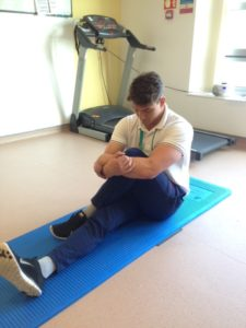Second gluteal stretch for piriformis syndrome relief