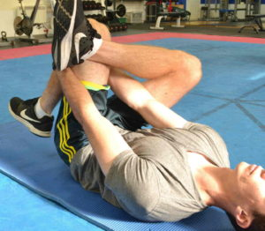 Different angle of same piriformis stretch to help relieve buttock pain and piriformis syndrome as well as bum muscle pain