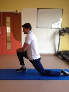 A hip flexor stretch is part of the stretching programme for sciatica relief. It is an ideal addition to your stretches for sciatica.